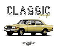 Mercedes-Benz E-klass (W123) (yellow) Photographic Print