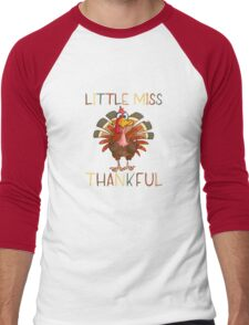 Little Miss Thankful Men's Baseball ¾ T-Shirt
