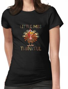 Little Miss Thankful Womens Fitted T-Shirt