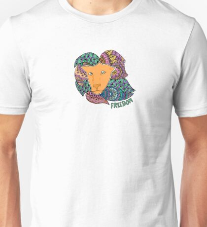 Freedom Lion (Small) Unisex T-Shirt