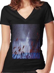 B Women's Fitted V-Neck T-Shirt