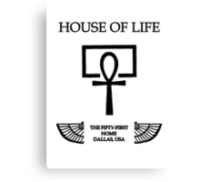 House of Life, Dallas Nome Canvas Print