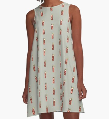 Mixed - Icon Prints: Drinks Series A-Line Dress