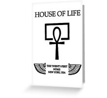House of Life, New York Nome Greeting Card