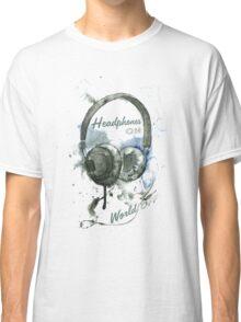 World in Headphones Classic T-Shirt