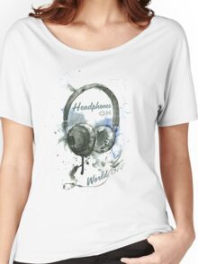 World in Headphones Women's Relaxed Fit T-Shirt