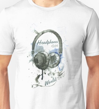 World in Headphones Unisex T-Shirt