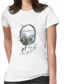 World in Headphones Womens Fitted T-Shirt
