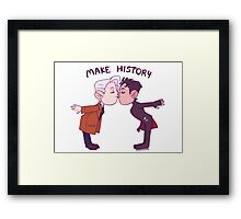 Make History! Framed Print