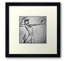 Hugin figthing with magic Framed Print
