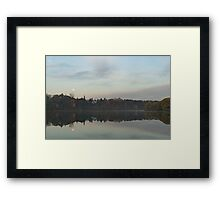 Supermoon Moonset Panoramic Reflections Framed Print