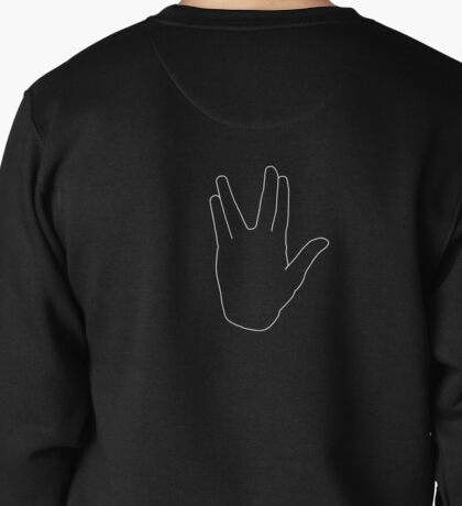 Star Trek Salute, Live Long and Prosper, White Pullover