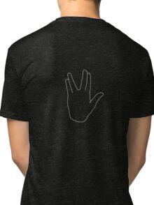 Star Trek Salute, Live Long and Prosper, White Tri-blend T-Shirt