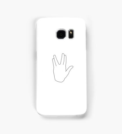 Star Trek Salute, Live Long and Prosper, Black Samsung Galaxy Case/Skin