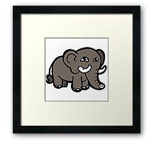éléphant jumbo bébé cartoon Framed Print