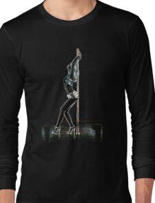 Pole Dancing Girl Hot Design Long Sleeve T-Shirt
