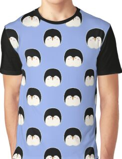 Сute penguins on blue background Graphic T-Shirt