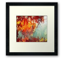 Abstract Red Leaves Framed Print