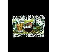 Fantasy Football Draft Strategy Beer and Football Photographic Print