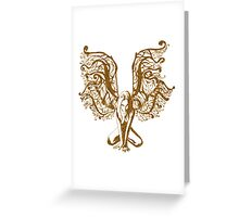 Yellow Fairy Draw Greeting Card