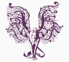 Purple Fairy Draw Kids Tee