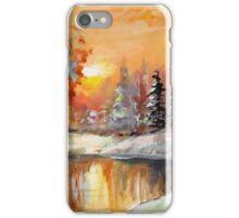 Winter sunset  iPhone Case/Skin