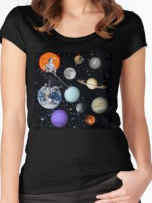 She's cleaning Uranus Women's Fitted Scoop T-Shirt