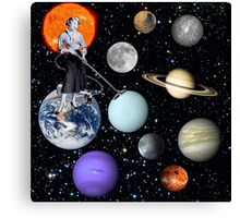 She's cleaning Uranus Canvas Print