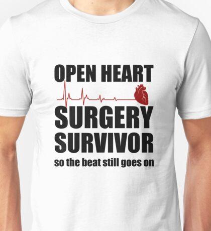 Open Heart Surgery Survivor Unisex T-Shirt