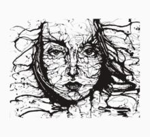 Woman Face Abstract Baby Tee