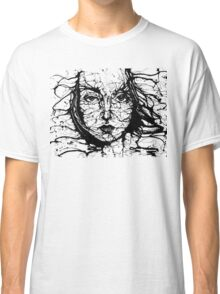 Woman Face Abstract Classic T-Shirt