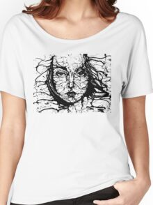 Woman Face Abstract Women's Relaxed Fit T-Shirt