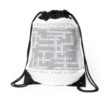 Geologists know all the clues - I (sedimentary words) Drawstring Bag