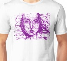 Woman Face Abstract Purple Unisex T-Shirt