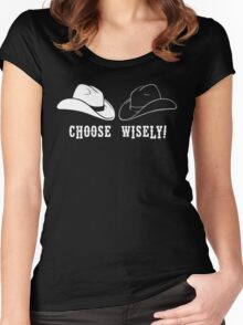 Black Hat or White Hat Women's Fitted Scoop T-Shirt