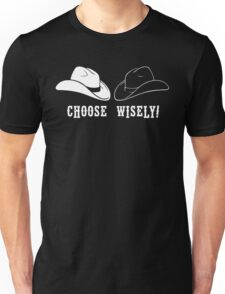 Black Hat or White Hat Unisex T-Shirt