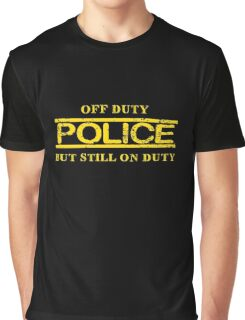Off Duty Police Graphic T-Shirt
