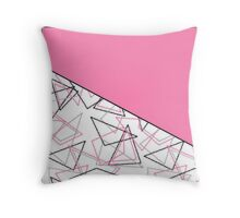 Colorful pink geometric pattern .  Throw Pillow