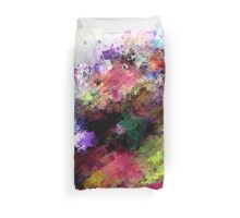 Abstract Paint Splatter Throw Pillow Duvet Cover