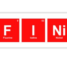 'Infinite' periodic table elements red Sticker