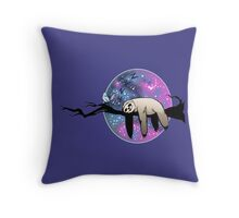 Galaxy Sloth Throw Pillow