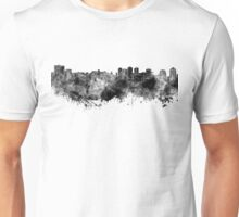 Halifax skyline in black watercolor on white background Unisex T-Shirt