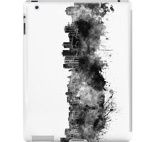 Halifax skyline in black watercolor on white background iPad Case/Skin