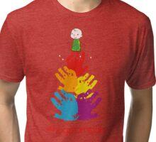 #HugsForNoah Christmas Tree Jumper Tri-blend T-Shirt
