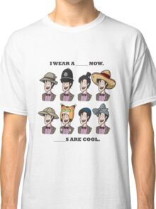 The Doctor in many Hats Classic T-Shirt