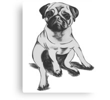 lonely Pug Canvas Print