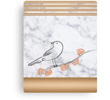 Rose Gold Bird Canvas Print