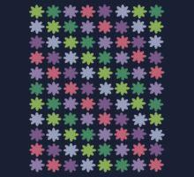 Colorful Flowers Pattern Kids Tee