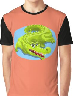 Cartoon Crocodile Vector Design 2 Graphic T-Shirt