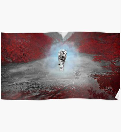 Mystical Tiger - Fantasy Artwork Poster